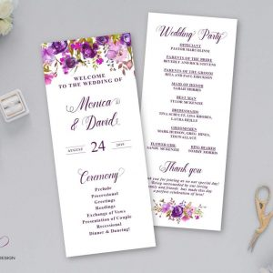 event program print