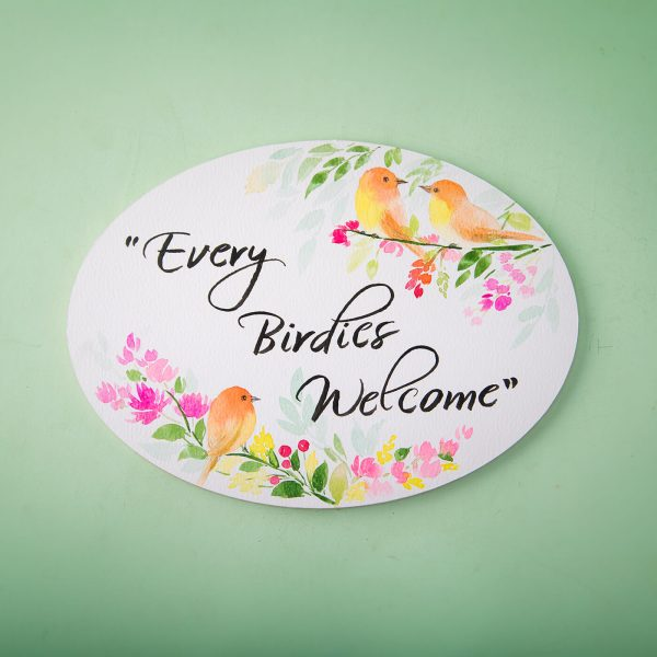 oval welcome boards